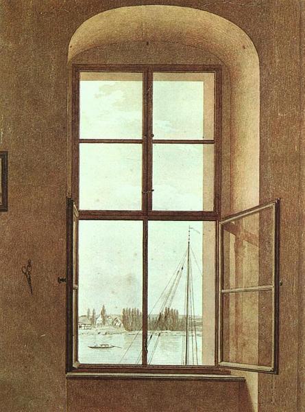 Caspar David Friedrich - View From the Artist's Studio