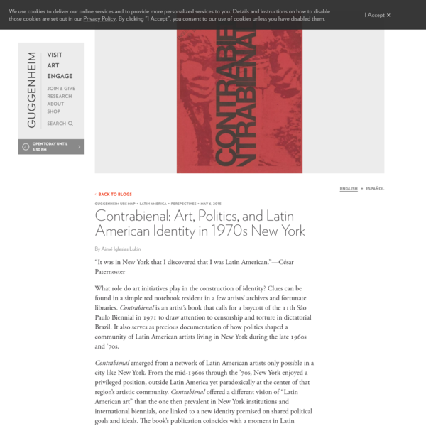 Contrabienal: Art, Politics, and Latin American Identity in 1970s New York