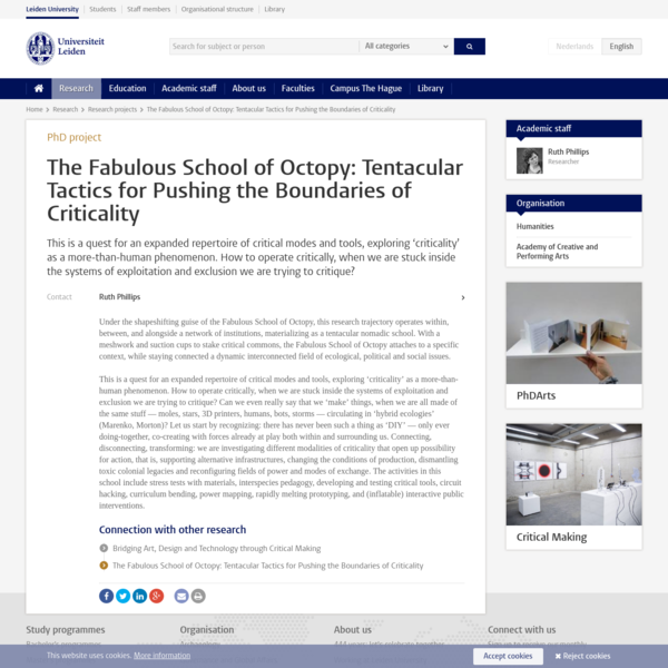 The Fabulous School of Octopy: Tentacular Tactics for Pushing the Boundaries of Criticality