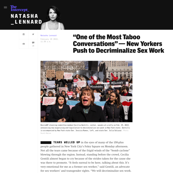 """""""One of the Most Taboo Conversations"""" - New Yorkers Push to Decriminalize Sex Work"""