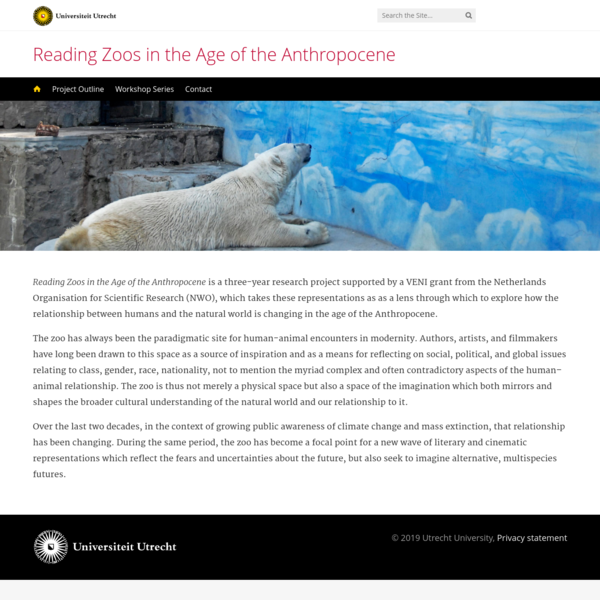 Reading Zoos in the Age of the Anthropocene