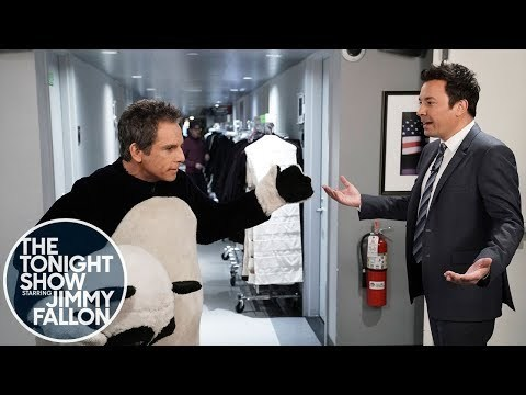 Jimmy Runs Into an Unhappy Ben Stiller and Tina Fey Backstage at The Tonight Show