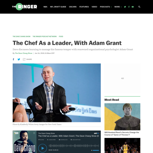 The Chef As a Leader, With Adam Grant
