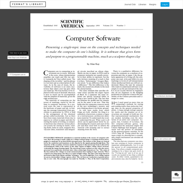 Fermat's Library | Computer Software annotated/explained version.