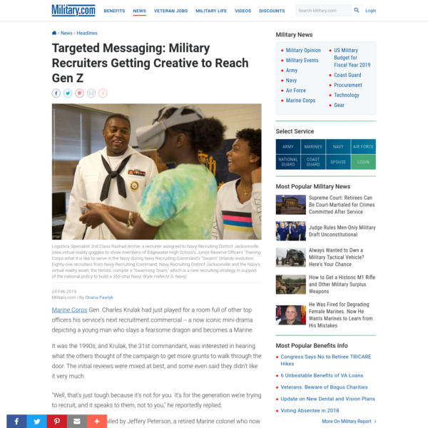 Targeted Messaging: Military Recruiters Getting Creative to Reach Gen Z