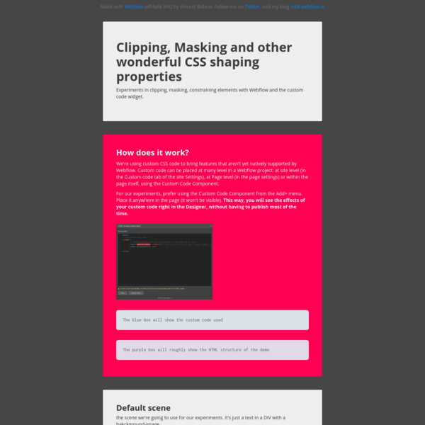 Clipping, masking and other great CSS properties