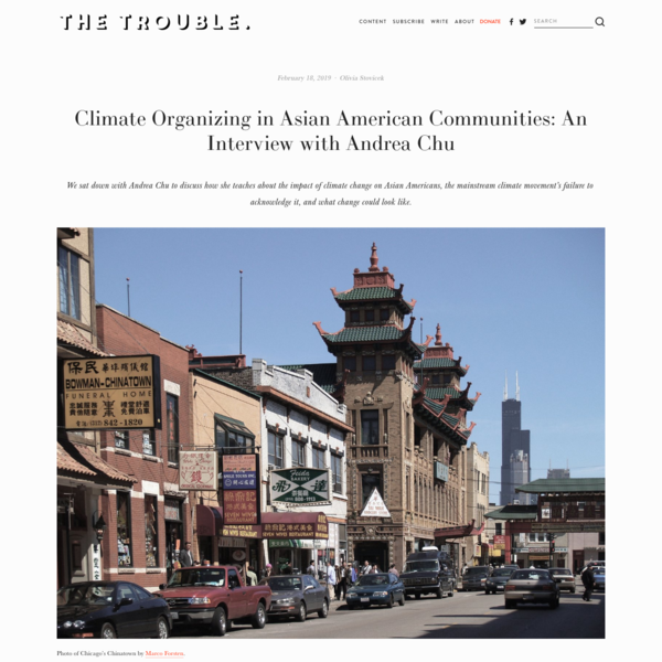 Climate Organizing in Asian American Communities: An Interview with Andrea Chu