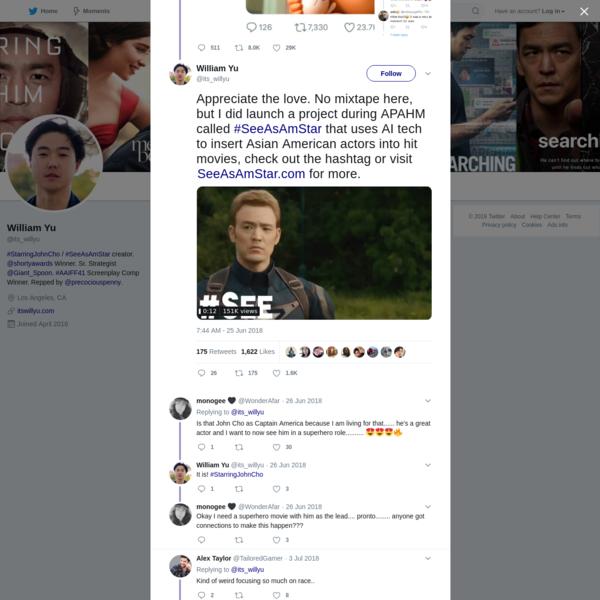 William Yu on Twitter
