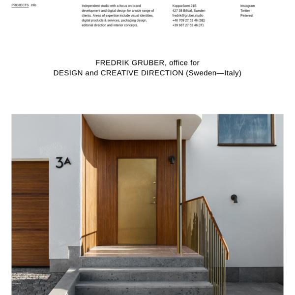 Fredrik Gruber - Office for Design & Creative Direction