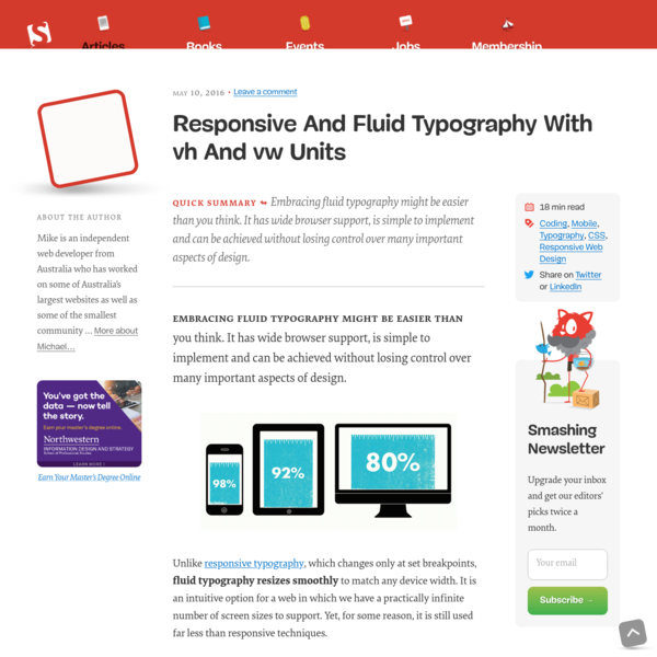 Responsive And Fluid Typography With vh And vw Units