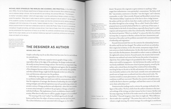 The Designer as Author, Michael Rock