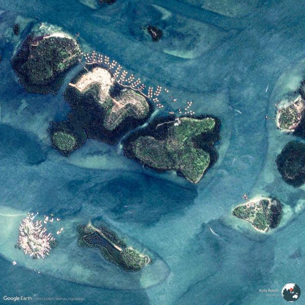 Kota Batam, Indonesia - Earth View from Google