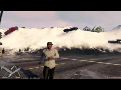 GTA V PC The Tsunami Mod Preview 3 :Tsunami Waves WIP