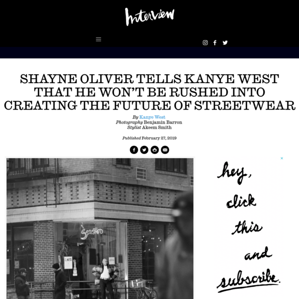 Shayne Oliver Tells Kanye West that He Won't Be Rushed into Creating the Future of Streetwear