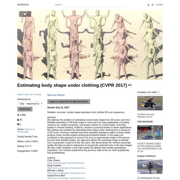 Estimating body shape under clothing (CVPR 2017)