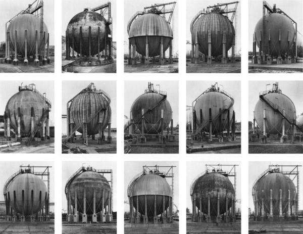 Bernd & Hilla Becher, Gas Tanks, 1983-92. Copyright of the artists.