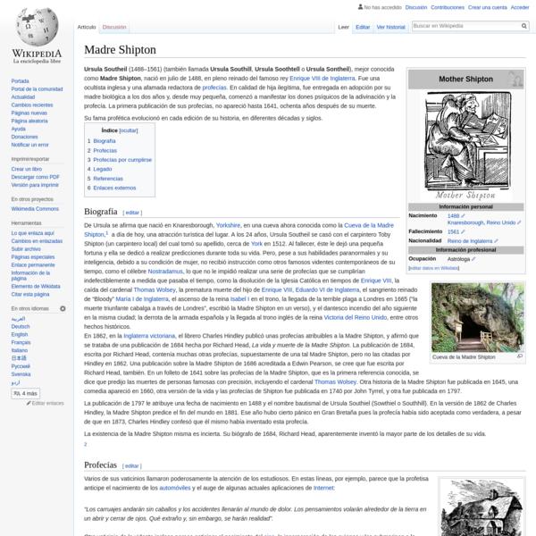 Madre Shipton - Wikipedia, la enciclopedia libre