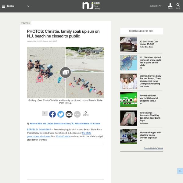 PHOTOS: Christie, family soak up sun on N.J. beach he closed to public