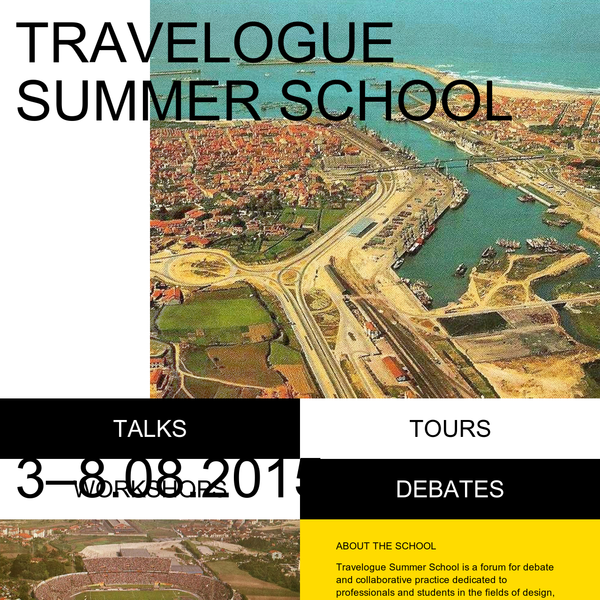 Travelogue Summer School is a forum for debate and collaborative practice dedicated to professionals and students in the fields of design, architecture, arts and related disciplines. Our aim is to collaboratively build a practice-based investigation towards publishing a unique guidebook about Porto.