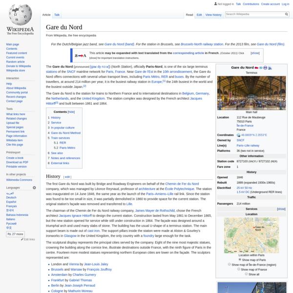 Gare du Nord - Wikipedia