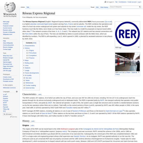Réseau Express Régional - Wikipedia
