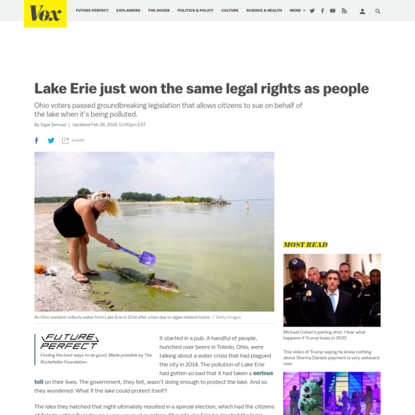 Lake Erie just won the same legal rights as people