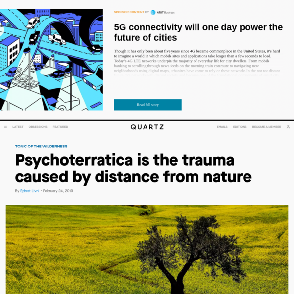 Psychoterratica is the trauma caused by distance from nature