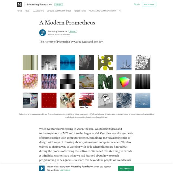 A Modern Prometheus - Processing Foundation - Medium