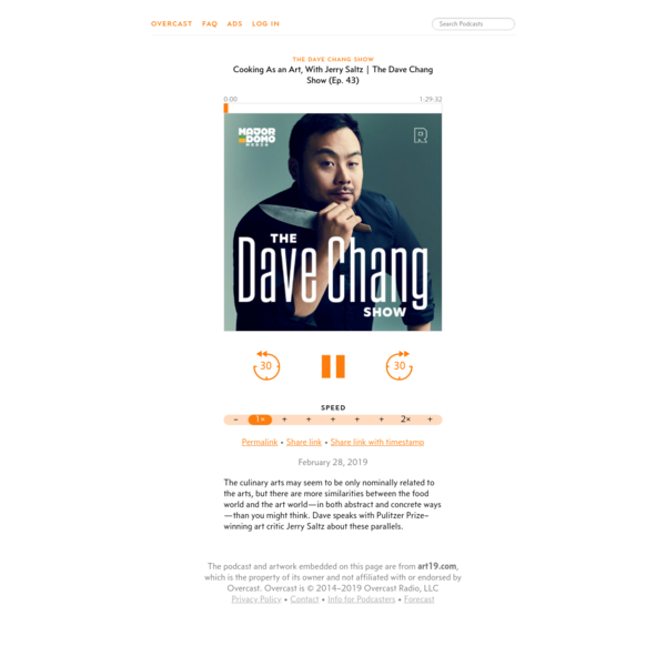 Cooking As an Art, With Jerry Saltz | The Dave Chang Show (Ep. 43) - The Dave Chang Show