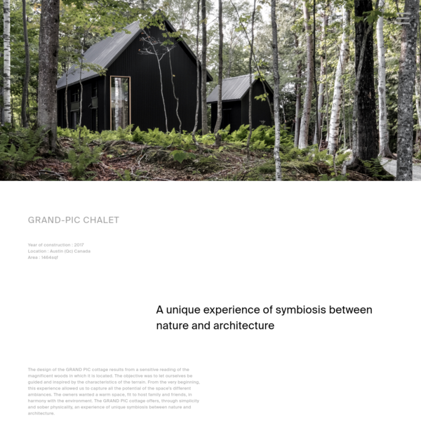 GRAND-PIC Chalet - APPAREIL architecture