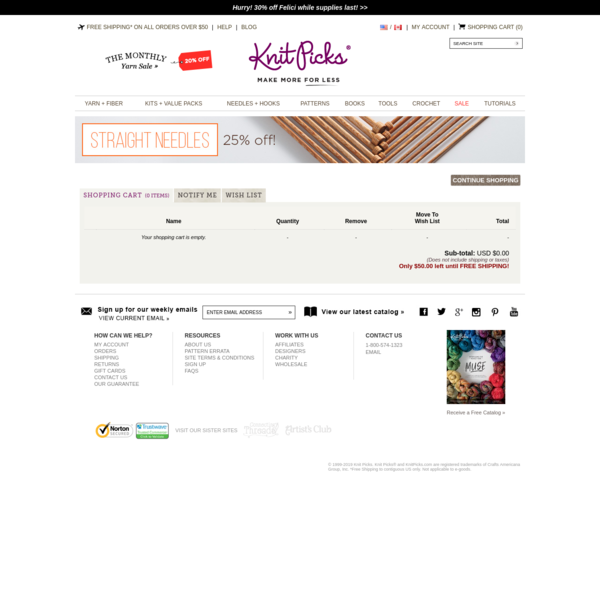 View Your Cart at KnitPicks.com - Knitting Yarns, Patterns, and More for the Knitting Enthusiast