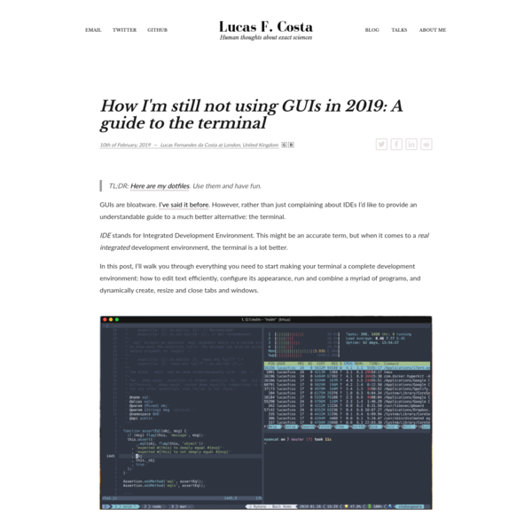 How I'm still not using GUIs in 2019: A guide to the terminal