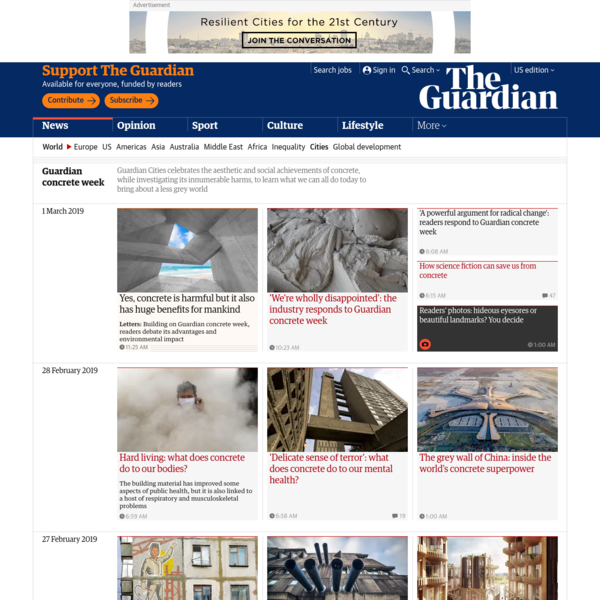 Guardian concrete week | Cities | The Guardian