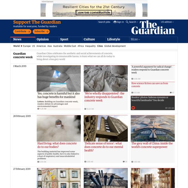 Guardian concrete week | Cities | The Guardian