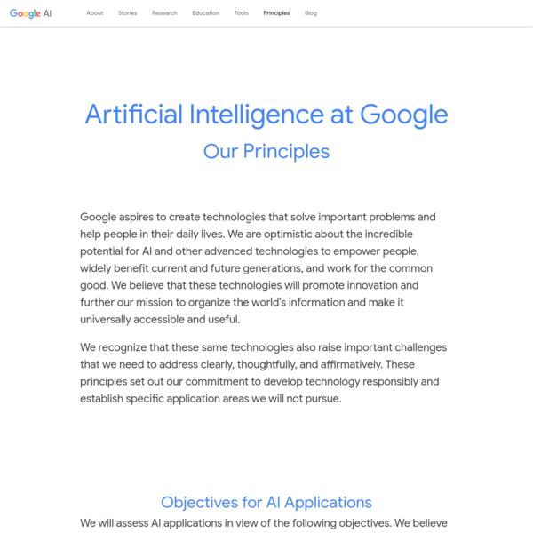 Our Principles - Google AI
