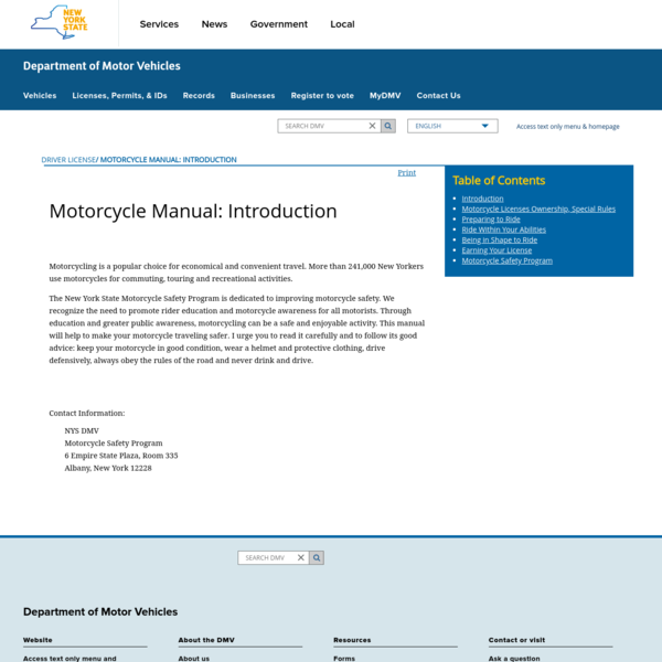 Motorcycle Manual: Introduction