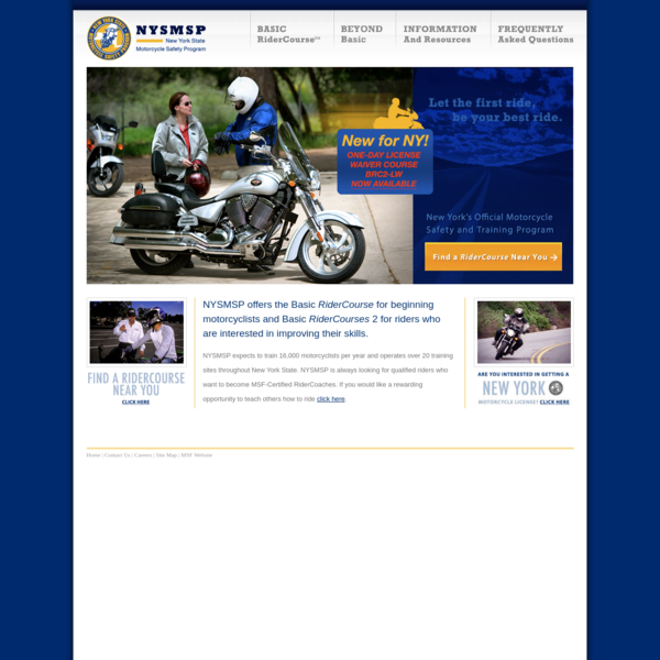New York State Motorcyclist Safety Program - NYSMSP - Motorcycle - Training