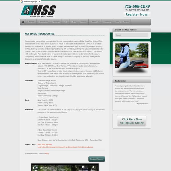 MSF Basic RiderCourse