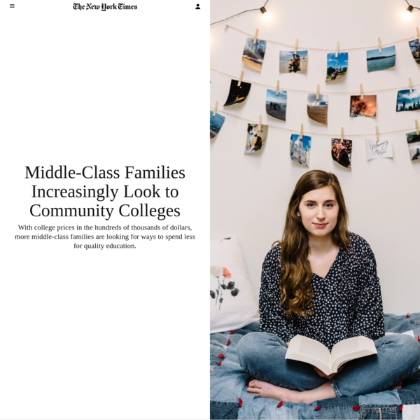 Middle-Class Families Increasingly Look to Community Colleges