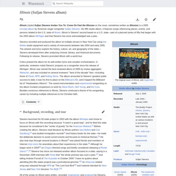 Illinois (Sufjan Stevens album) - Wikipedia
