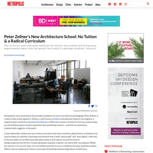Peter Zellner's New Architecture School: No Tuition & a Radical Curriculum
