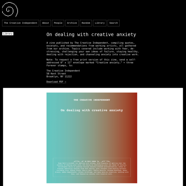 On dealing with creative anxiety
