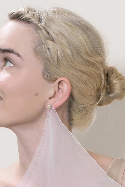 Anna-Sophie Berger, pea earrings, 2015