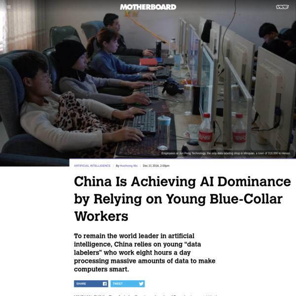 China Is Achieving AI Dominance by Relying on Young Blue-Collar Workers