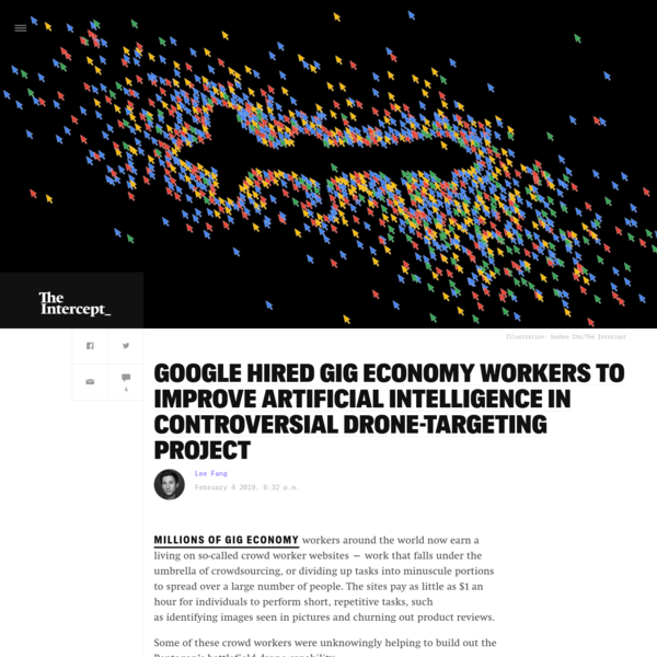 Google Hired Gig Economy Workers to Improve Artificial Intelligence in Controversial Drone-Targeting Project