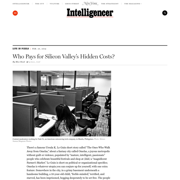 Who Pays for Silicon Valley's Hidden Costs?