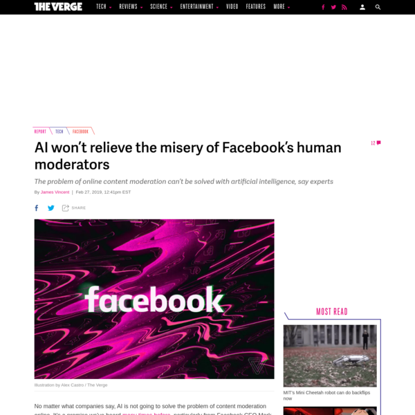 No matter what companies say, AI is not going to solve the problem of content moderation online. It's a promise we've heard many times before, particularly from Facebook CEO Mark Zuckerberg, but experts say the technology is just not there - and, in fact, may never be.