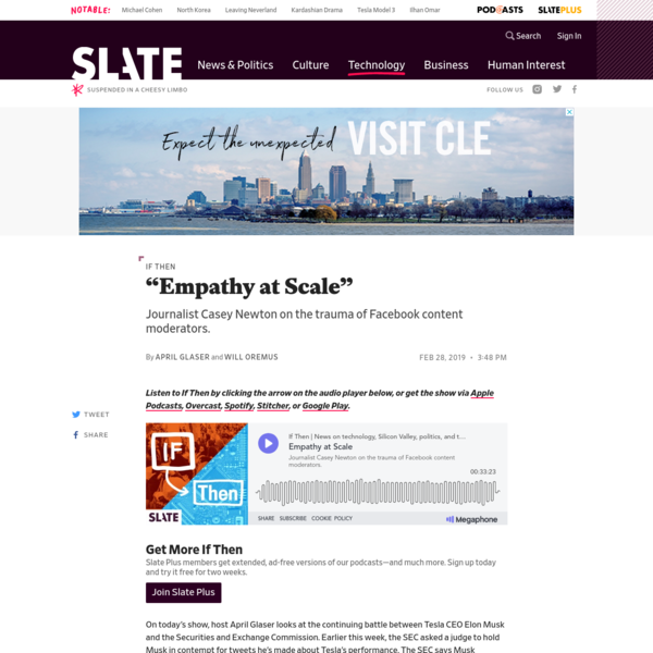Join Slate Plus On today's show, host April Glaser looks at the continuing battle between Tesla CEO Elon Musk and the Securities and Exchange Commission. Earlier this week, the SEC asked a judge to hold Musk in contempt for tweets he's made about Tesla's performance.