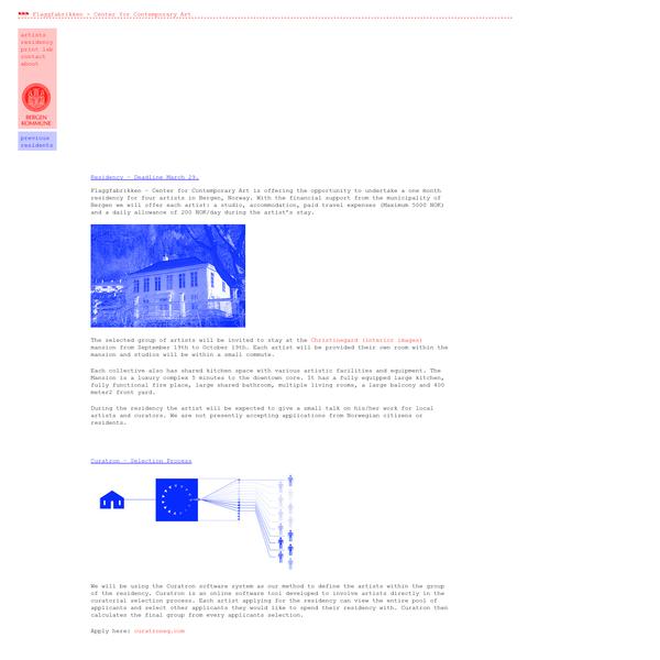 Residency - Deadline March 29. | Flaggfabrikken