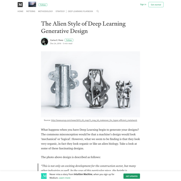 The Alien Style of Deep Learning Generative Design - Intuition Machine - Medium